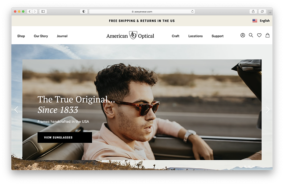 Marissa Roseillier's images for American Optical featured on their website.