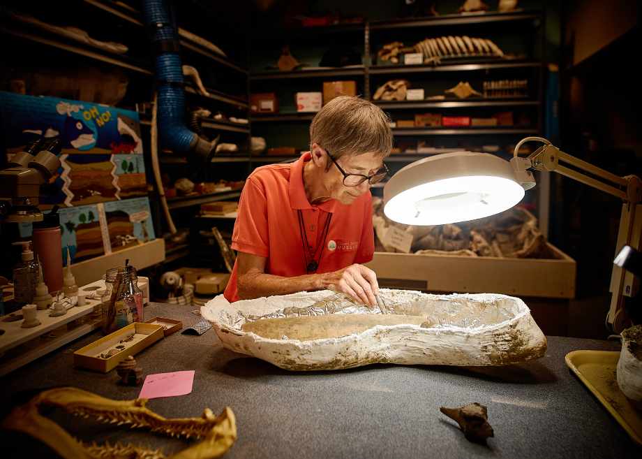 """Paleontologist photographed for """"My Former Future Self"""""""