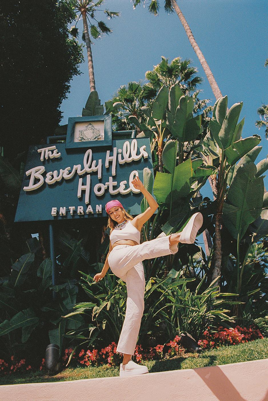 New Republic footwear shoot outside Beverly Hill Hotel shot by Michael Julius