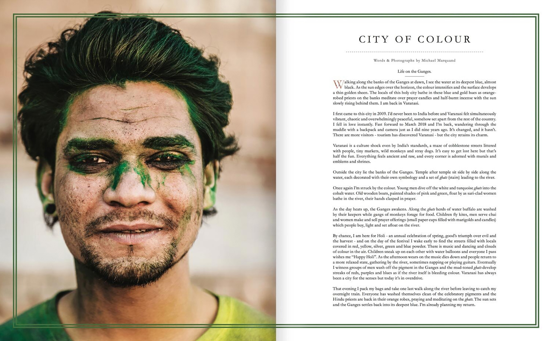 Tear sheet of Lodestar Anthology article in India Issue written and shot by Michael Marquand
