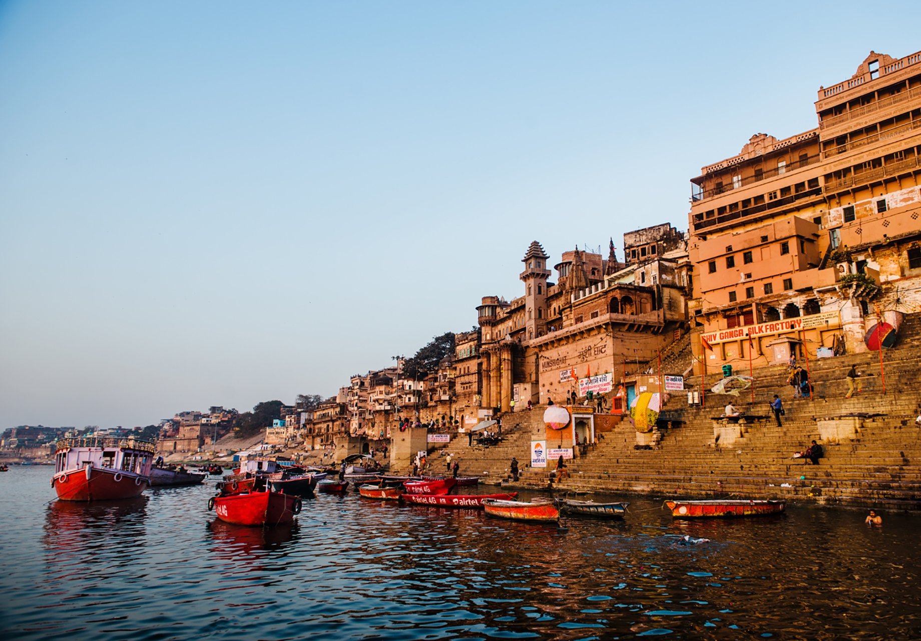 Hindu temples along the Ganges shot by Michael Marquand for Lodestars Anthology