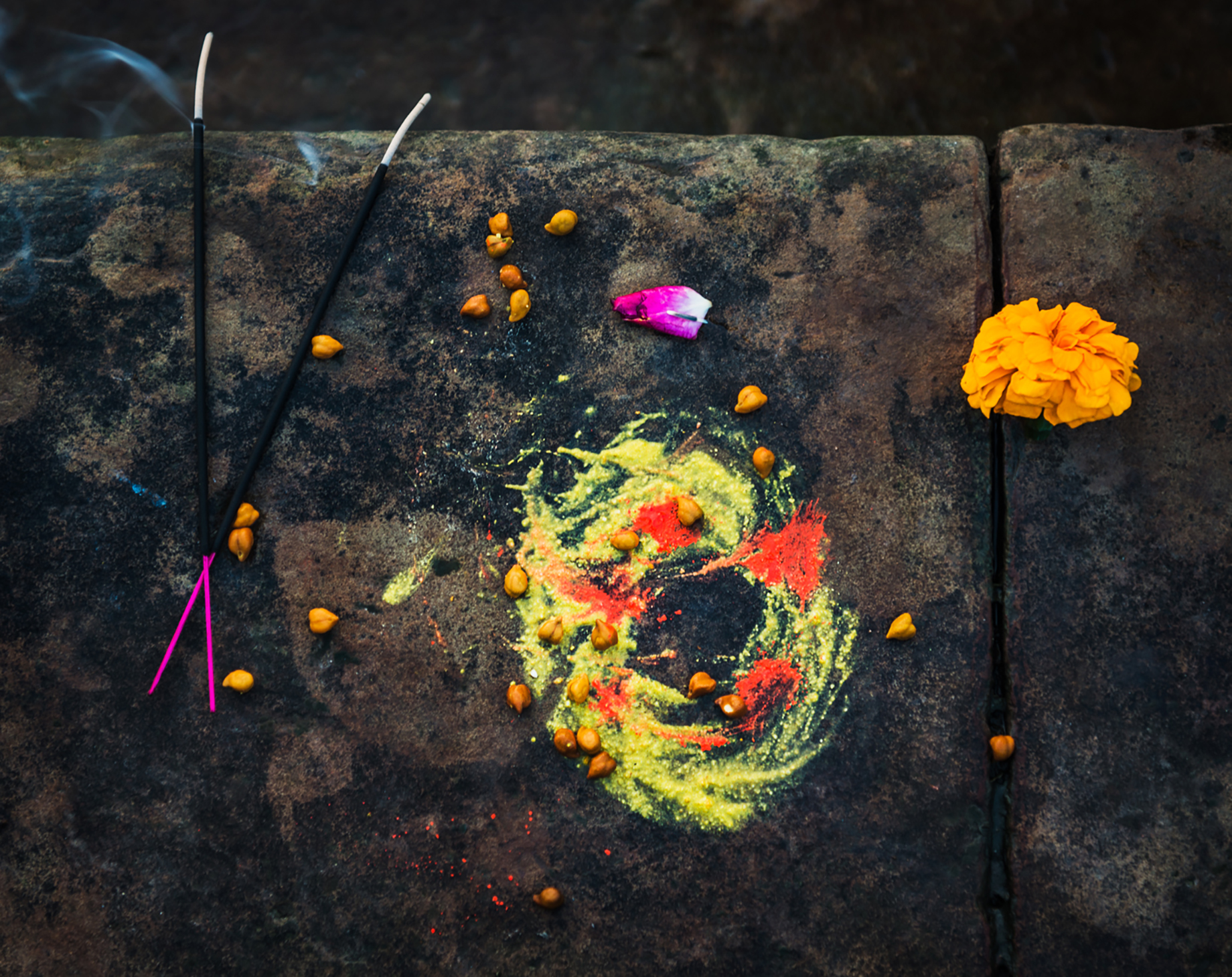 Incense, flowers, and colorful dyes shot by Michael Marquand for Lodestars Anthology
