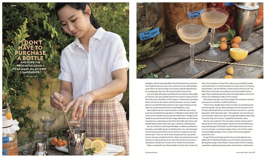 Plate Magazine, cocktail, Han Suk, food photography, food magazine photography, magazine food photography, editorial food photography, non-alcoholic drinks, craft drinks, phoode