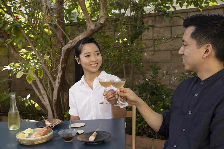 Han Suk Cho and her husband Kyle photographed by Natasha Lee, Plate Magazine, cocktail, Han Suk, food photography, food magazine photography, magazine food photography, editorial food photography, non-alcoholic drinks, craft drinks