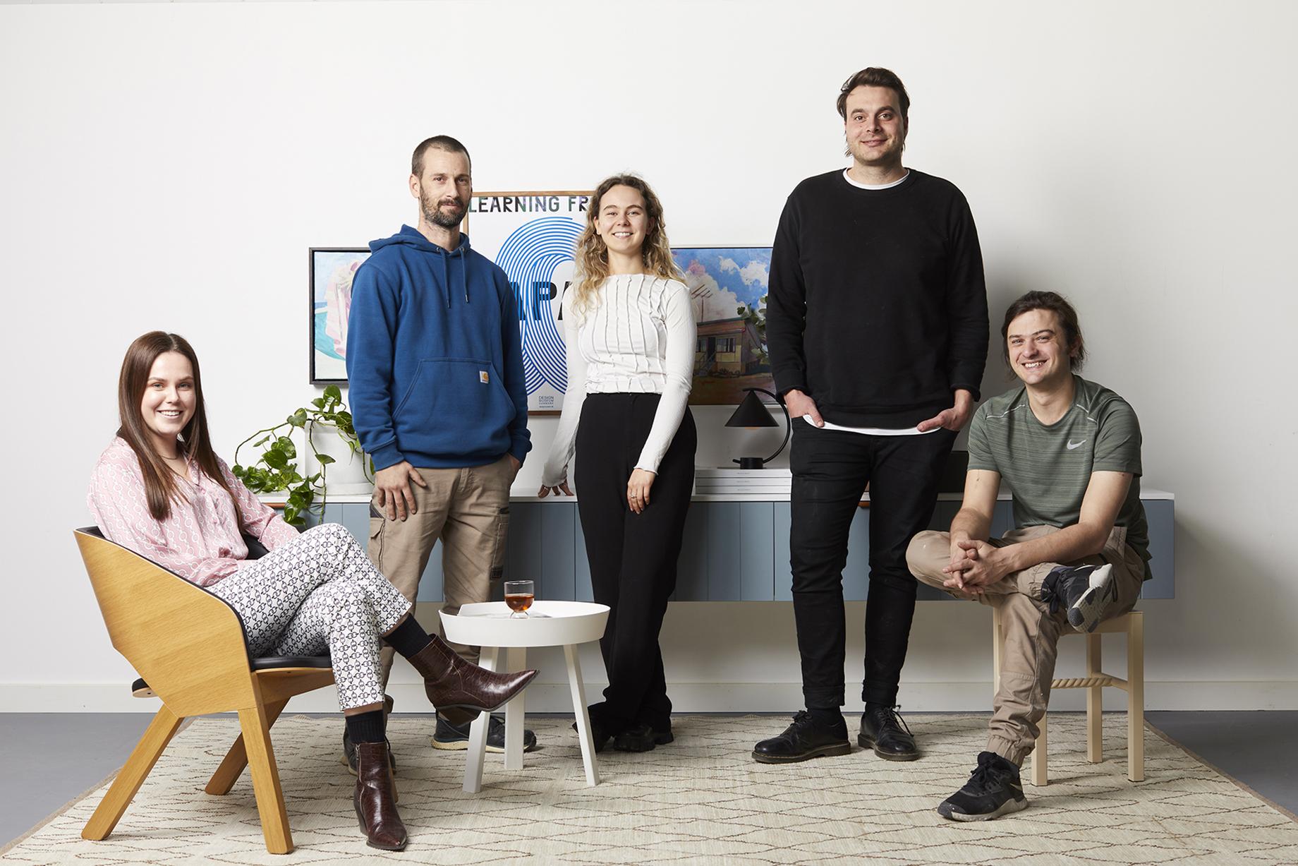 The Ensemble furniture design team shot by Peter Tarasiuk