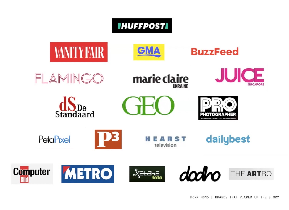 list of brands that picked up Mar Beth Koeth's porn mom story