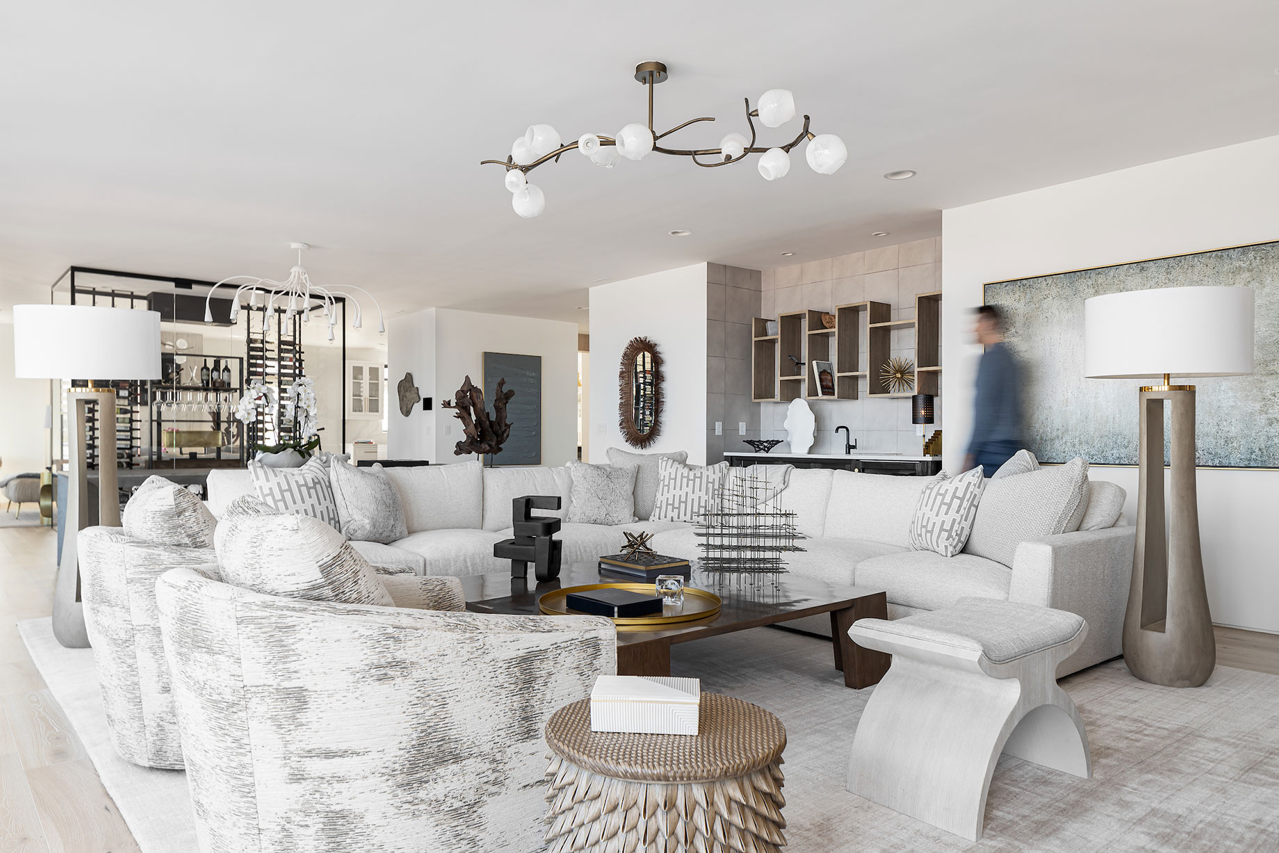 Living room in Virginia Beach home designed by Kenneth Byrd shot by Quentin Penn Hollar for Virginia Living Magazine