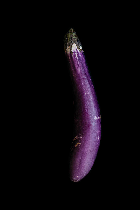 Chinese eggplant photographed by Rebecca Peloquin, food photographer los angeles, hire food photographer los angeles, food photography los angeles, dark light food photography, chiarocsuro food photography, chiarocsuro, dark lighting, fruits photography, vegetables photography