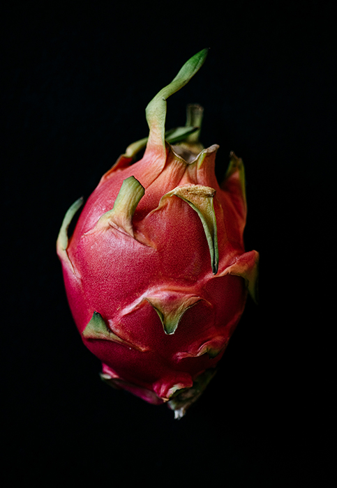 Dragonfruit photographed by Rebecca Peloquin, food photographer los angeles, hire food photographer los angeles, food photography los angeles, dark light food photography, chiarocsuro food photography, chiarocsuro, dark lighting, fruits photography, vegetables photography