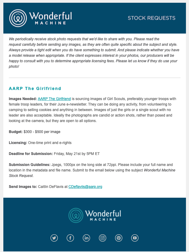 Stock Request for AARP's June e-newsletter of Girl Scouts hard at scouting.