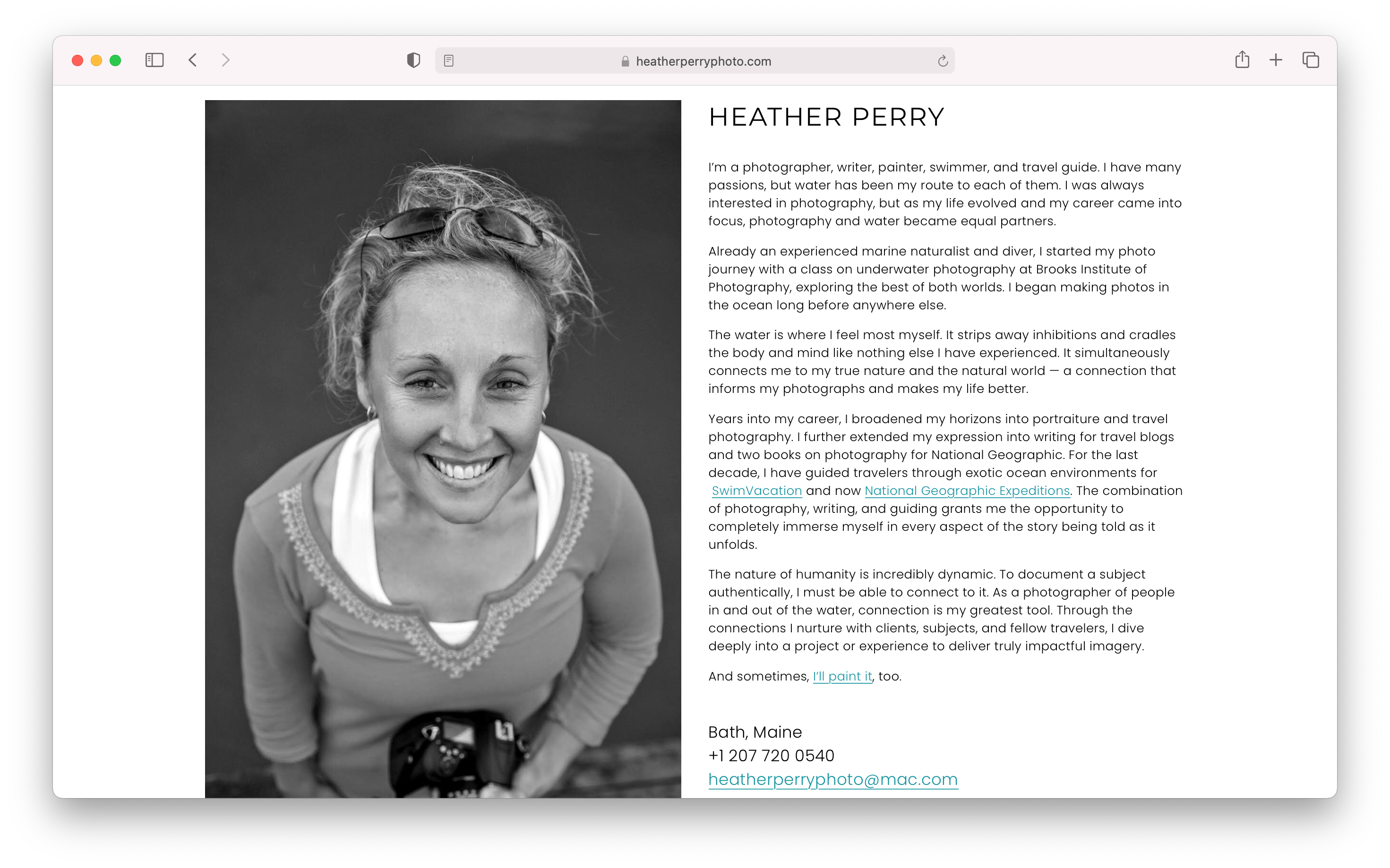 Shannon Stewarts final bio for heather perry's branding overhaul