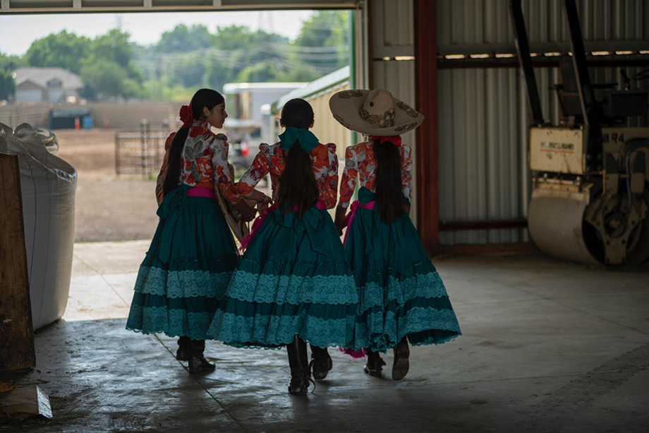 Three members of Flor de Aguileña. Photographed by Sean F. Boggs.