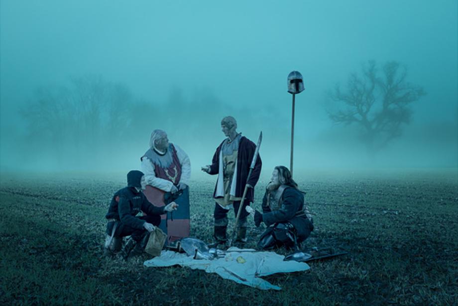 Group photo depicting mercenary scene. Photographed by Simon Plant.