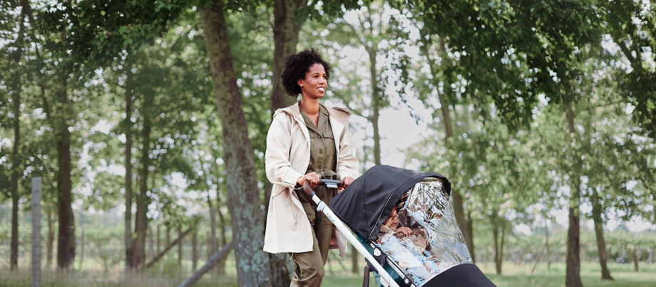 After retouching of the woman in the park by Stephanie Goode