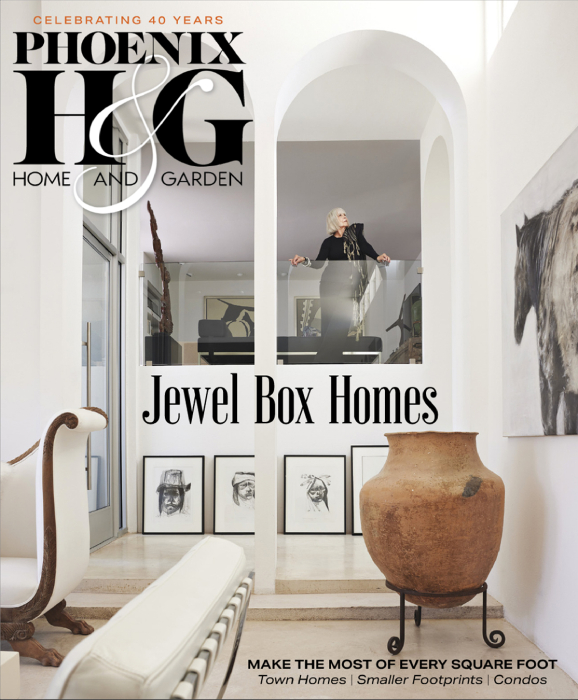 Tear sheet of Phoenix Home and Garden Magazine cover featuring Jo Ann Tull shot by Steve Craft