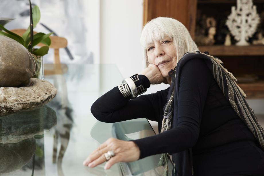 Portrait of interior designer Jo Ann Tull shot inside her home by Steve Craft for Phoenix Home and Garden Magazine