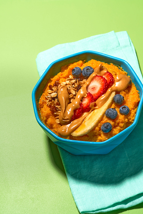 Sweet Potato Bowl. Photographed by Suzanne Clements for Delish Magazine.