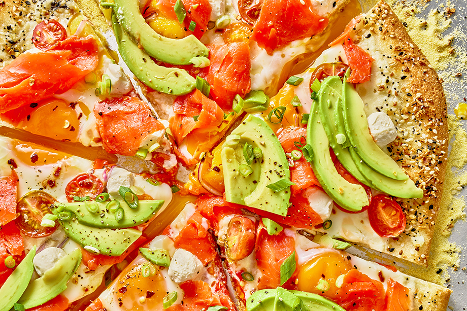 Breakfast Pizza. Photographed by Suzanne Clements for Delish Magazine.
