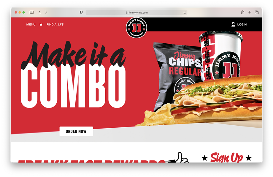 The bold new look on Jimmy John's website, Teri Campbell, food photography, food photographer, commercial food photographer, commercial food photography, commercial food styling, commercial food stylist, sandwich shop, Jimmy John's, fastfood, sandwich chain, sandwich, sandwiches, food branding, phoode