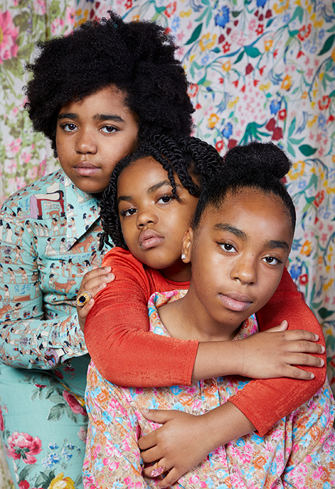 Alissa Bertrand's kids dressed in Jabella Fleur designs. Photographed by Very Clever for Atlanta Magazine
