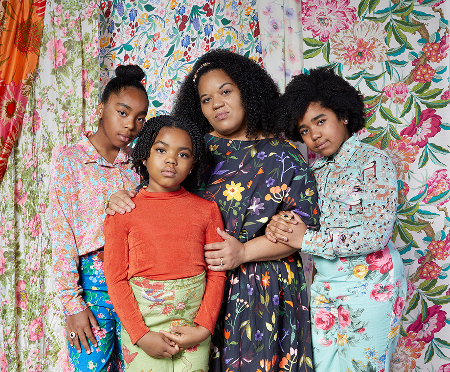 Alissa Bertrand and her family. Photographed by Very Clever for Atlanta Magazine