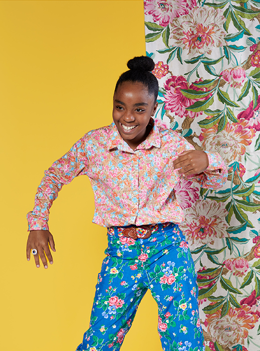 One of Alissa's daughters strikes a pose for the camera. Photographed by Very Clever for Atlanta Magazine.