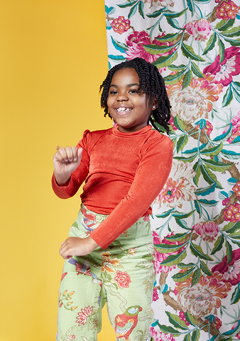 One of Alissa's daughters dances on set. Photographed by Very Clever for Atlanta Magazine.