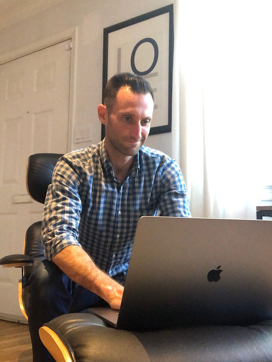 Our outreach team working from home featuring Craig Oppenheimer