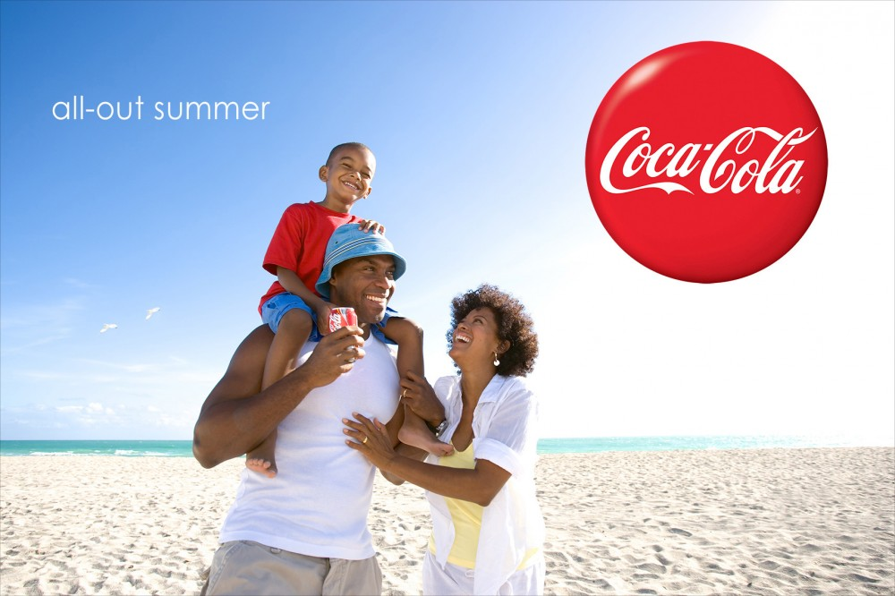Robert Holland's charming beach lifestyle photography for Coke
