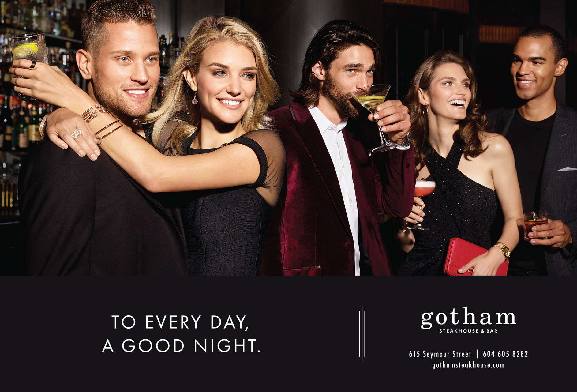 David Fierro's lifestyle image for Gotham Steakhouse & Bar