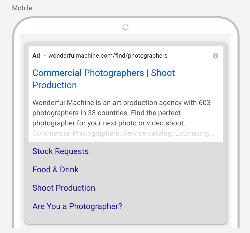 An image of Wonderful Machine's mobile version of our Google Web Ads campaign
