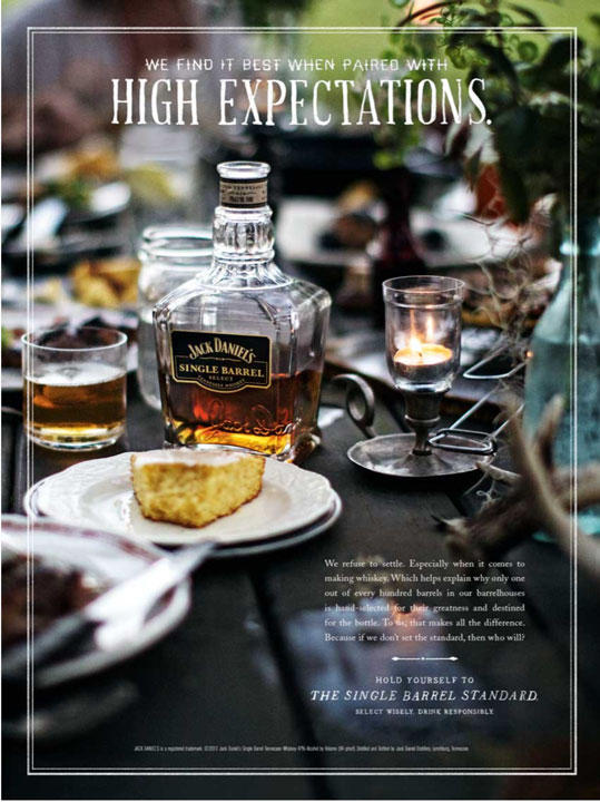 Jody Horton's image in a Jack Daniel's advertising campaign, food photography, commercial food photography, food magazine photography, editorial food photography, phoode, advertising food photography, lifestyle food photography, commercial food photographer, commercial beverage photographer, commercial drink photographer, phoode