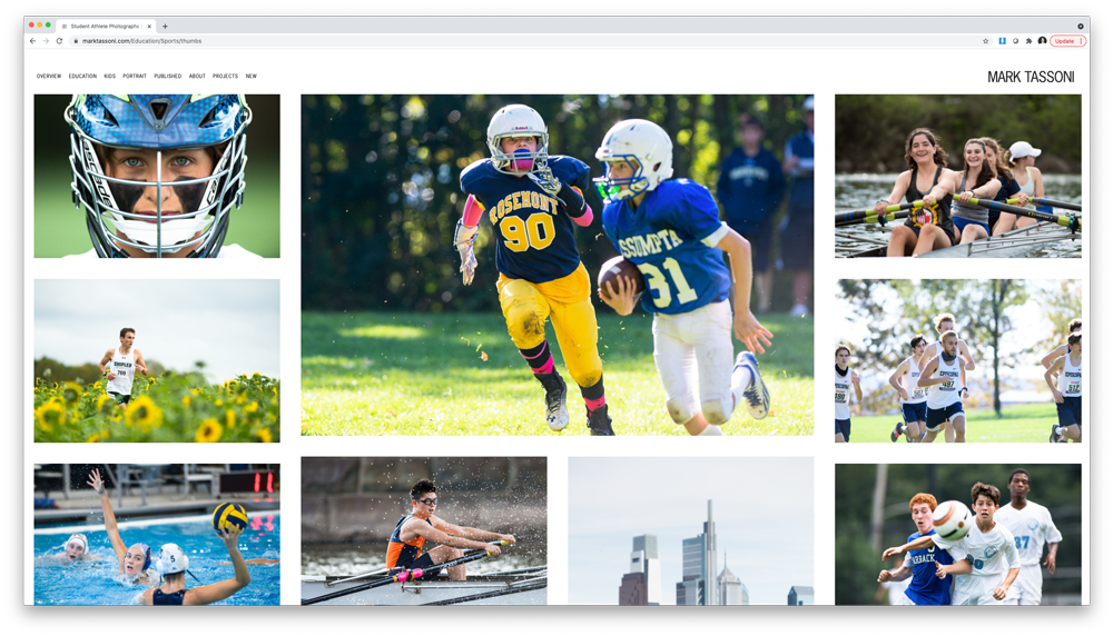 Gallery of children's sports images from Mark Tassoni's site