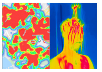 FEVER A Conceptual Photo Documentation Of Life In Istanbul During The COVID 19 Pandemic In 2020, Shot With A Thermal Camera, And Made Into Diptychs Alongside Screenshots From The Turkish Ministry Of Health's Coronavirus Contact Tracing Application.