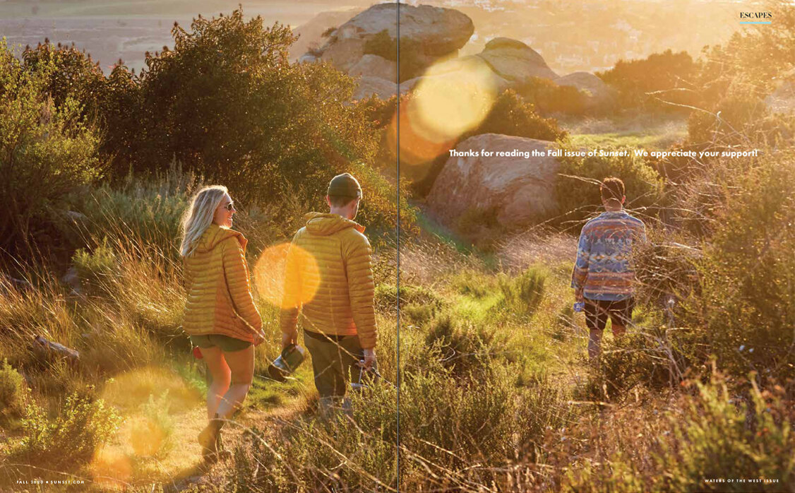Ren Fuller's lifestyle image for Sunset magazine's fall 2020 issue