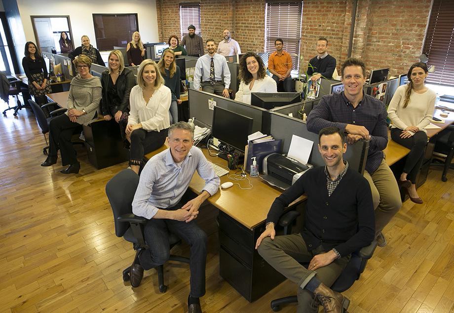 The Wonderful Machine staff in our second Conshohocken office in 2017.