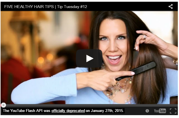 Healthy Hair Tips video