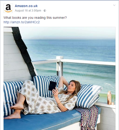 Amazon Facebook Post Engages fans