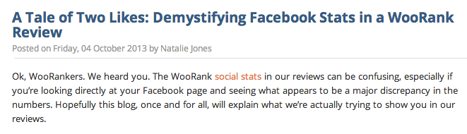 A blog by WooRank based on a common customer question