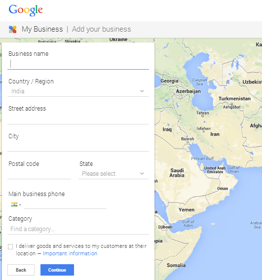 Business Information Form On Google My Business