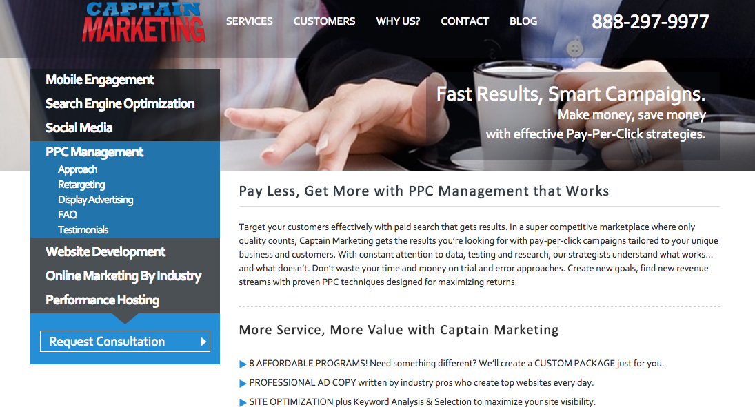 CaptainMarketing - Top Online Marketing Company - WooRank Blog