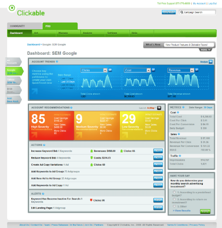 Clickable Dashboard