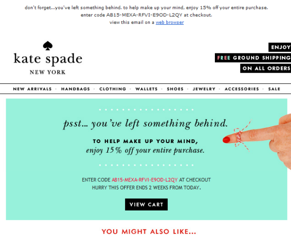 Coupon Email Newsletter Example 3