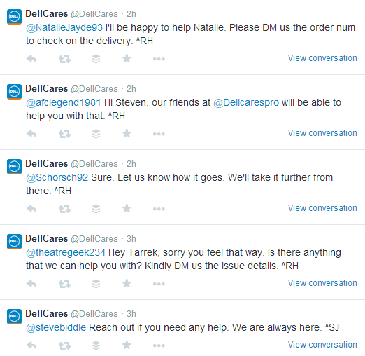DellCares Twitter Engagement With Customers