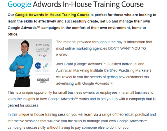 Digital Agency Providing In-House Google Adwords Training