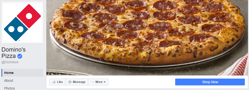 Domino's Facebook banner image.