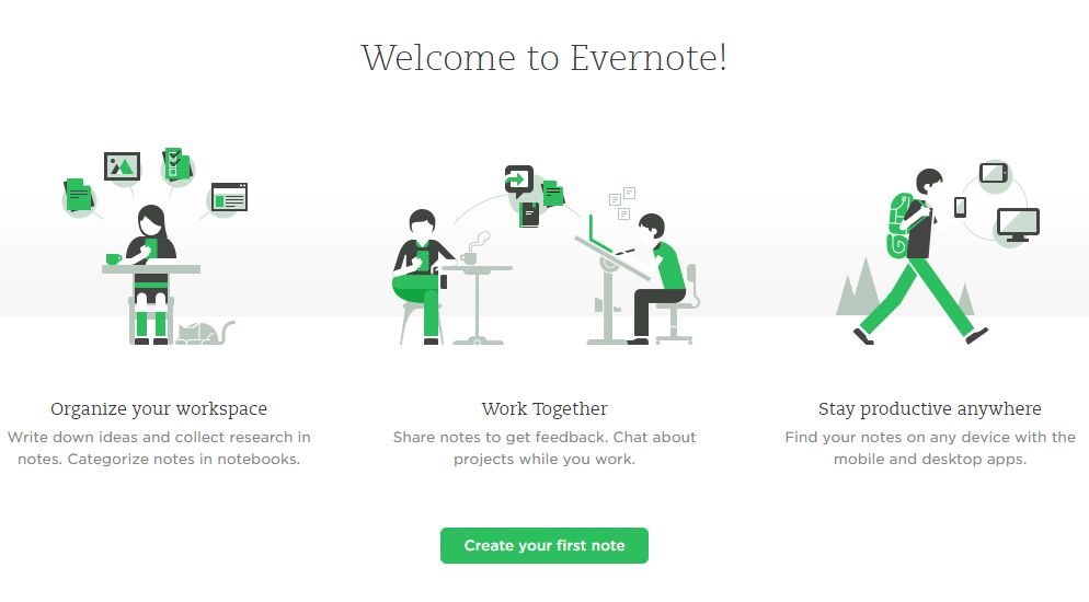 Evernote Content Planner Content Marketing Tool
