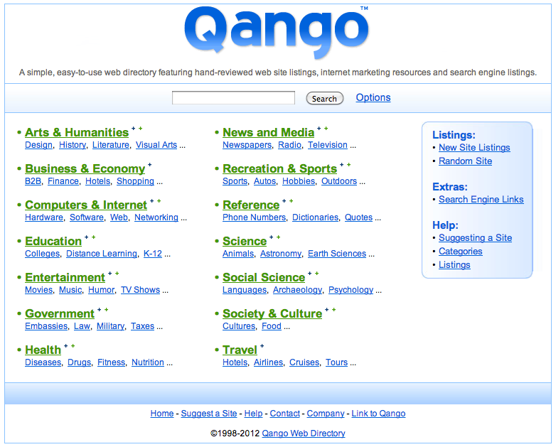 Example of a Quality Website Directory