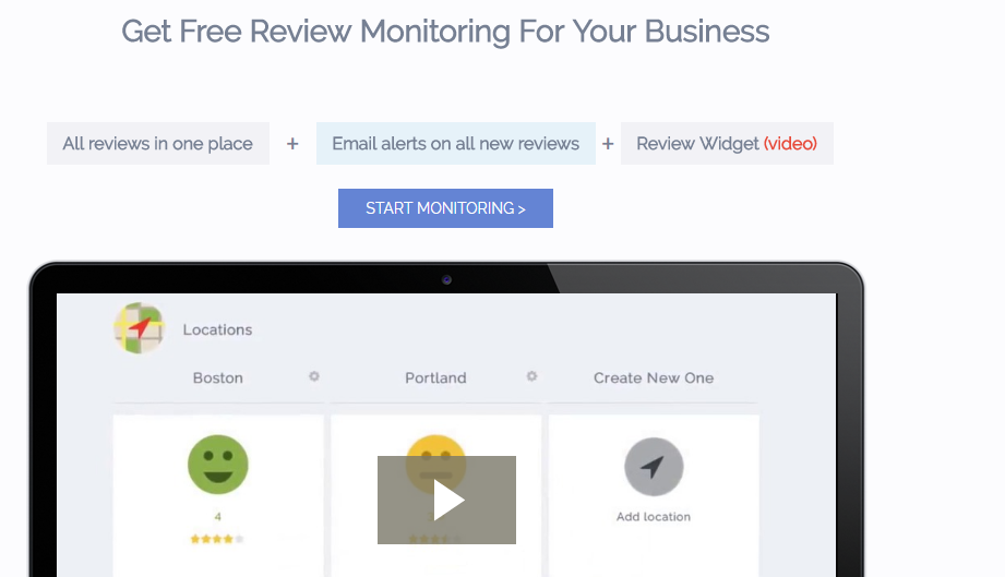 Free Review Monitoring tool for instant updates on reviews for your brand