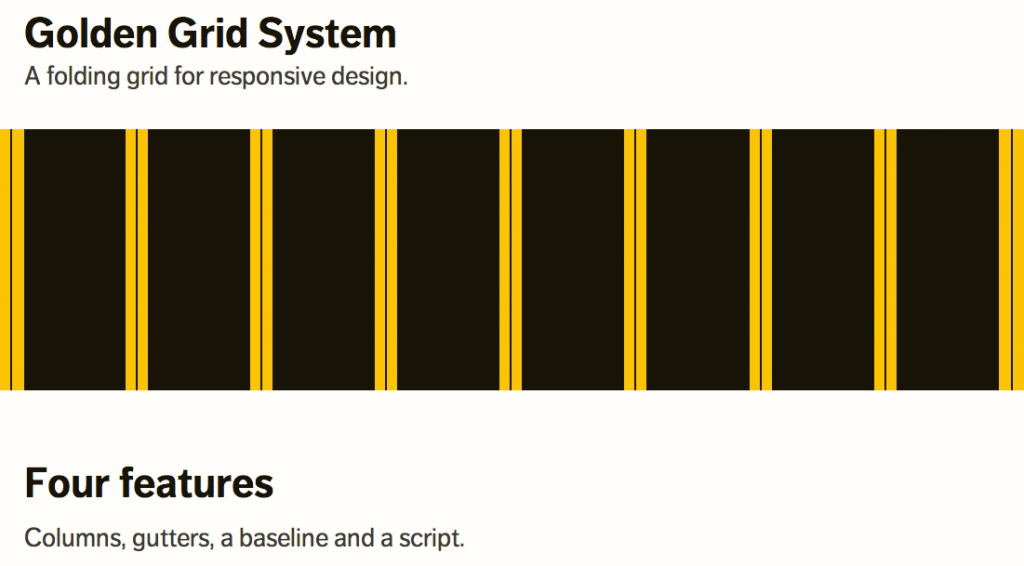 Golden Grid System for Responsive Website Design